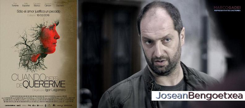 """Posean Bengoetxea, actor Marco Gadei, participa en la película """"Cuando dejes de Quererme"""""""