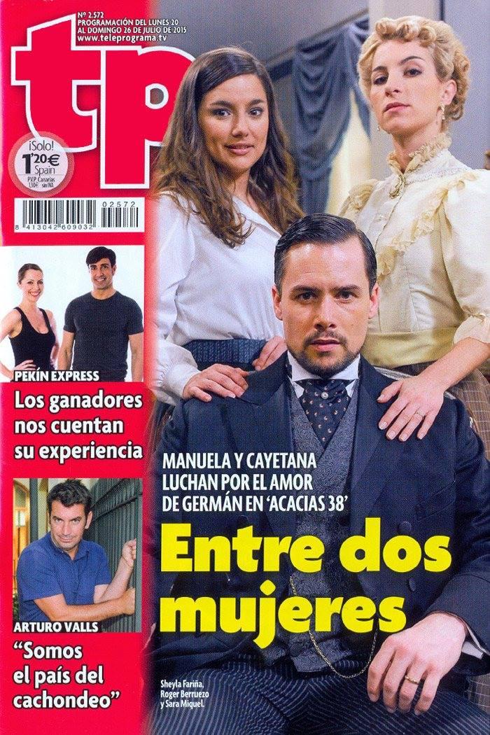 """Sheyla Fariña y Sara Miquel portada """"TP"""" Acacias 38"""