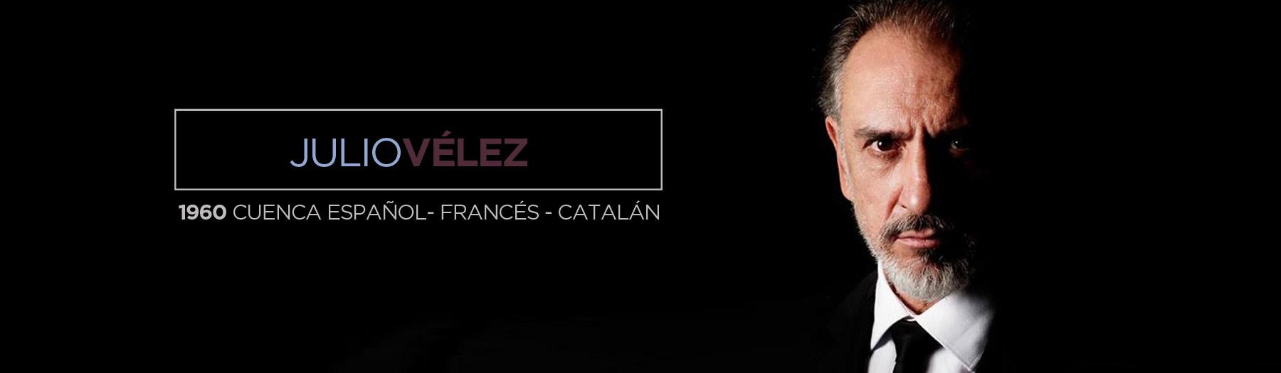 Julio Vélez Actor currículum | Marco Gadei Talent Agent
